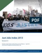 Just Jobs Index 2013