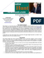 May Legislative Newsletter from Senator Neal Hunt