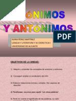 Ppt Sinonimos y Antonimos