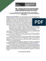 NOTA DE PRENSA DIVERSIDAD BIOLÓGICA
