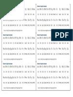 Alphabet Handout