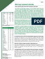 Midcap Cement Stocks_Update 24Mar2011