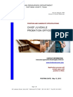 Chief Juvenile Probation Officer