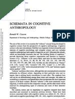 Casson - Schemata in Cognitive Anthropology