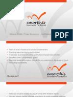 eMorphis Corporate Presentation - 2013
