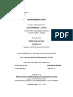 Organization Study @ DELTA Paper Mills Ltd.