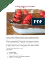 Sobremesa Cremosa de Morango e Chocolate