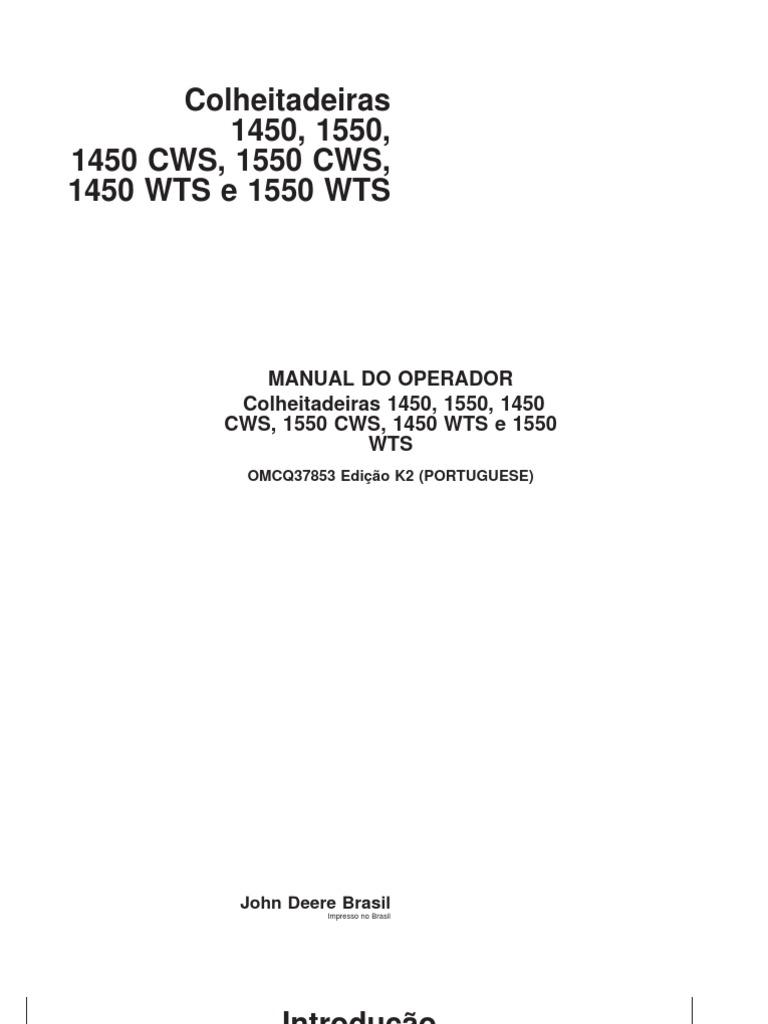 Manual operador colheitadeiras 1450 e 1550pdf fandeluxe Gallery