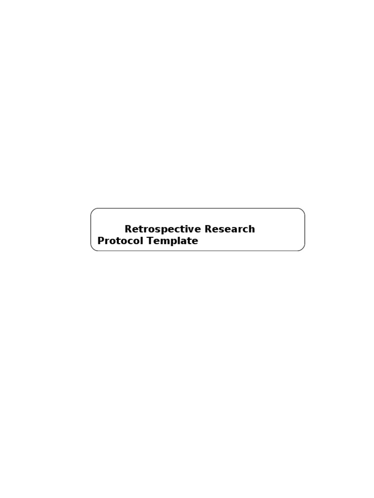 Wonderful Clinical Protocol Template Images - Entry Level Resume ...
