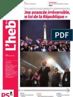 L'hebdo des socialistes n°698 - « Une avancée irréversible, une loi de la République »