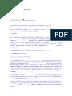 MODELO DE DEMANDA CONTENCIOSO ADMINISTRATIVA DE TERCERO AL PROCEDIMIENTO ADMINISTRATIVO CON EXCEPCION AL AGOTAMIENTO DE LA VÍA ADMINISTRATIVA