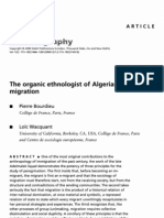 @ Bourdieu e Wacquant the Organic Ethnologist of Algerian Migration