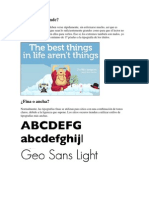 Concejos Para El Uso de La Tipogrtafia