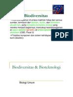 Biodiversitas & Bioteknologi