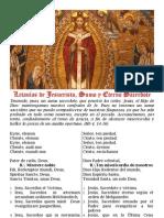 Letanías de Jesucristo, Sumo y Eterno Sacerdote (latín-castellano)