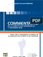 Commentaire de la Const du Bénin FKA