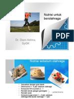 Nutrisi untuk berolahraga