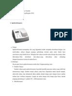 Spektrofotometer, Mikropipet, dll
