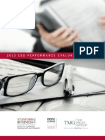 2013 CEO Performance Evaluation Survey Results form Stanford University and The Miles Group