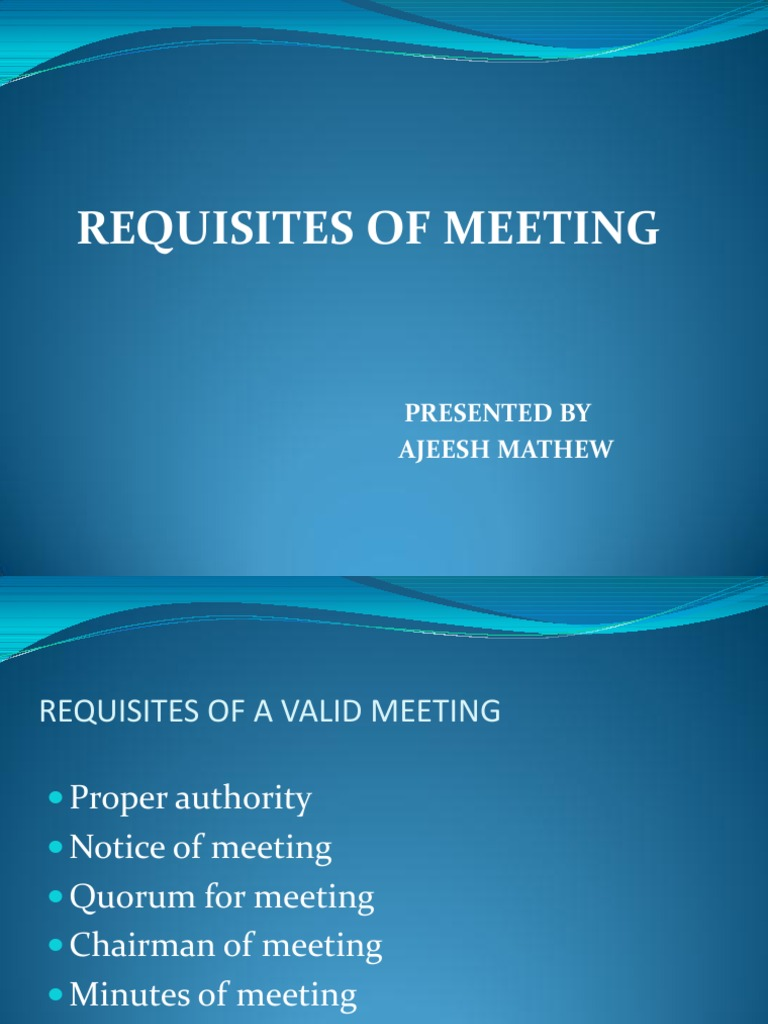 What are the requisites