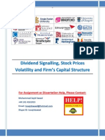 Dividend Signalling; Stock Prices Volatility and Firm's Capital Structure