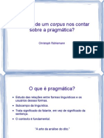 apresentação disciplina documentação corpus pragmático