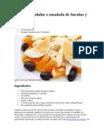 Remojón andaluz o ensalada de bacalao y naranja