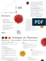 DAAD Programa Seminario Investigacion 2013