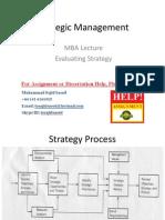 Strategic Management Lecture 7