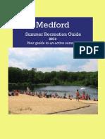 Medford Summer Recreation Guide 2013