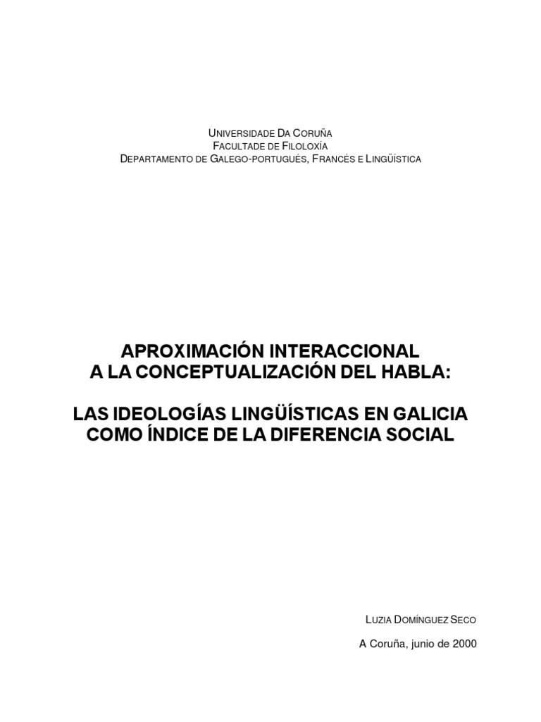 Las ideologías lingüísticas en Galicia como índice de la diferencia social