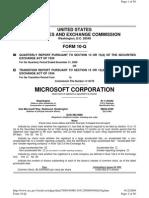 Microsoft MSFT Annual Report 2008