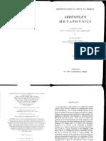 137119341 Aristotle s Metaphysics Ed Ross Introduction