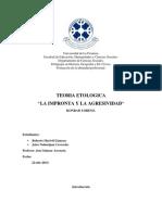 Teoria ETIOLOGICA Del Konrad Lorenz