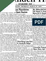 Rockport Votes Down Fluoridation