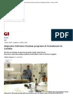 G1 - Imigrantes bolivianos fraudam programa de formalização do trabalho - notícias em PME