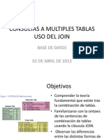 Consultas a Multiples Tablas
