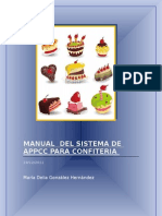 Manual Del Sistema de Appcc Para Confiteria