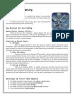 Plaster & Ceramic Mold Casting + Investment Casting
