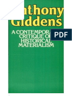 Anthony Giddens - A Contemporary Critique of Historical Materialism
