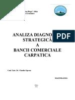 Analiza Diagnostic-Strategica a Bancii Comerciale Carpatica