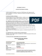 189912301442192informe Tecnico Leche Evaporada Entera