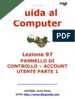 Guida al Computer - Lezione 97 - Pannello di Controllo - Account Utente Parte 1