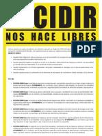 Manifiesto Decidir Nos Hace Libres
