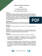 Ley de Carrara Administrativa