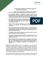CORONA PRESENTA EN EXPOCONSTRUCCIÓN 2013 UN PORTAFOLIO INTEGRADO DE SOLUCIONES CONSTRUCTIVAS