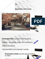 Postmodernism Theories, Theorists and Texts 2