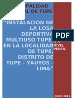 Perfil Losa Tupe