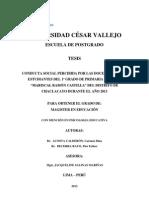 Tesis - Finalizada - Conducta Social