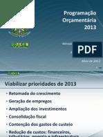 Programação Orçamentária 2013 - Imprensa